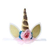 Handmade Glitter Unicorn Horn z pałąkiem na głowę dla dziecka Dzieci Cosplay Kostiumy na zdjęcia Rekwizyty