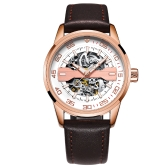 OCHSTIN Fashion Business Genuine Leather Automatic Relojes Hombre mecánico 3ATM resistente al agua Luminous Casual Man Reloj de pulsera