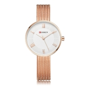 CURREN Fashion Luxury Stainless Steel Women Watches Quartz 3ATM Water-resistant Woman Casual Simple Wristwatch