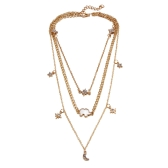 Fashion Multi-layer Necklace Moon Star Elephant Pendant Necklace Clavicle Chain Women Jewelry