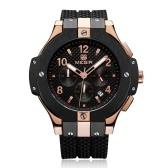 MEGIR Cronografo Reloj Deportivo Reloj de Cuarzo Reloj de Pulsera de Silicona para Hombres Reloj Militar de Cronografo