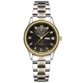 TEVISE 8122Q Reloj de mujer correa de acero inoxidable de cuarzo Reloj de pulsera simple Vida impermeable Calendario Moda Casual Relojes de mujer