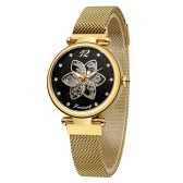 FORSINING Women Watch Automatic Mechanical Watches with Stainless Steel Strap Classic Fashion Wristwatch Luminous Display