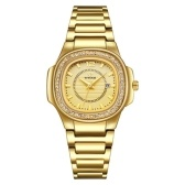Ladies Quartz Wrist Watch with Stainless Steel Strap 3ATM Waterproof Watch Gifts for Women