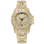 XR72207 Full-Crystal Shinny Elegant Women Wrist Watch Simple Stylish Casual Watch Analog Quartz Wristband Brilliant Lady Dress Watch with Alloy Strap