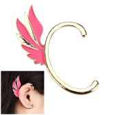 Aleación plateada Punky Fairy ala oreja brazalete Clip gancho Stud pendientes joyas accesorio de moda