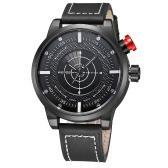 WEIDE präzise analoge einzigartige Mode Edelstahl Business Watch Leder Strap Military Armbanduhr