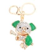Fashional bijoux creux Shinning strass Koala Aureate pendentif porte-clefs/Key Chain