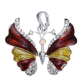 Luksusowy Elegancki Biały Złoty Muskularny Naszyjnik Naszyjnika Motyl