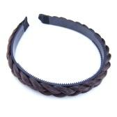 New Fashion Prosty skręcony Wig Braid Hairband Zębate pałąk Kobiety Akcesoria do włosów Ozdoba