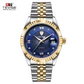 TEVISE Top Brand Men Fashion Luxury Wodoodporny zegarek Automatic Mechanical Watch Biznes męskie zegarki