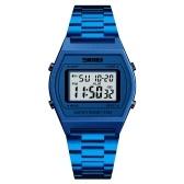 Skmei 1328 homens moda casual sports relógio de pulso analógico relógio digital 3atm resistente à água cinta de aço inoxidável backlight multifuncional relógios relogio masculino