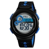 SKMEI 1375 Men Analog Digital Watch Fashion Casual Pedometer Sports Wristwatch Compass 3 Alarm Time Display 3ATM Waterproof Silicone Strap Backlight Multifunctional Watches Relogio Masculino