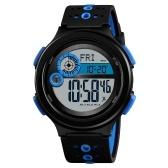 SKMEI 1375メンズアナログデジタル時計ファッションカジュアル歩数計スポーツ腕時計コンパス3アラーム時間表示3ATM防水シリコンストラップバックライト多機能時計Relogio Masculino