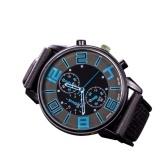Moda masculina luxo aço inoxidável quartzo relógio do esporte