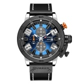 CURREN Montre en cuir de marque Gentlemen 8312 Quartz Men Gentlemen