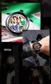TEVISE T832 Relógio Mecânico Automático dos homens Tempo de Exibição de Moda Casual Pulseira De Couro À Prova D 'Água 3ATM Luminosa Mãos Masculinas Esportes relógio de Pulso