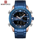 NAVIFORCE NF9138S Dual Display Two Movement Quartz Digital Men Watch