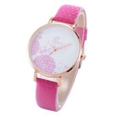 Accessorio delle donne dell'orologio del quarzo di luce solare del fiore bello di colore cambiato bello semplice di modo