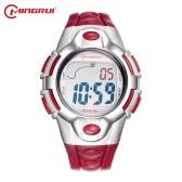 Mingrui 3ATM Resistente à água Multi-funcional Crianças Assista Boys & Girls Sport Relógios de pulso Estudante Relógios digitais Alarm Backlight