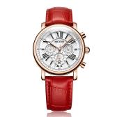 MEGIR Fashion Luxury Women Watches 3ATM Water-resistant Quartz Woman Wristwatch Chronograph Calendar