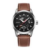 OUBAOER Luxury Genuine Leather Automatic Men Zegarki mechaniczne 3ATM Wodoodporny Luminous Fashion Man Zegarek