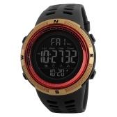 SKMEI Hombres Relojes Deportivos Cuenta Regresiva Tiempo Doble Reloj de alarma Cronógrafo Relojes Digitales 50M Impermeable Relogio Masculino