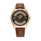 Yazole 416 relógio de couro relógio de quartzo moda casual relógio de pulso de negócios