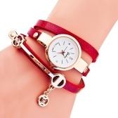 Moda senhora casual liga pulseira relógio de quartzo