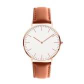 Homens Mulheres Moda Simples Ultra-Thin Watch