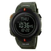 SKMEI 1231 Multifunktionale digitale 50M wasserdichte Sport-Herrenuhr