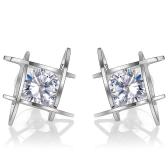 Moda Niepowtarzalny Kwadrat Bright Zircon Crystal Kolczyki Kolczyki Kolczyki Biżuteria dla Kobiet Akcesoria