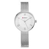 CURREN Fashion Luxury Stainless Steel Women Zegarki Kwarcowe 3ATM Wodoodporny Woman Casual Simple Wristwatch