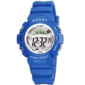 SYNOKE学生の子供のスポーツの時計3ATMの生活防水デジタルバックライト子供の子供の男の子の女の子の腕時計のアラームストップウォッチ