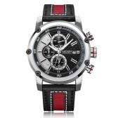 MEGIR 2079 Moda masculina de couro Strap Quartz Sport Watch