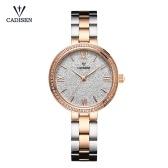 Cadisen Mode Frauen Uhren Quarz Luxus Edelstahl Kleid Armbanduhr Einfache Kausal Geschenk für Frauen