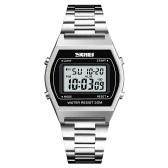 SKMEI 1328 Männer Mode Lässig Sport Armbanduhr Analog Digital Uhr 3ATM Wasserdicht Edelstahl Armband Hintergrundbeleuchtung Multifunktionale Uhren Relogio Masculino