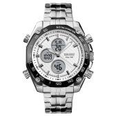 SKMEI 1302 uomini quarzo 2 cronometro orologi cronometro analogico digitale display da polso 3ATM impermeabile moda casual retroilluminazione orologi multifunzionali