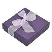 Moda Advanced Pearl-lustre Bowknot Bangle Pulseira Relógio Jóias Gift Box Case