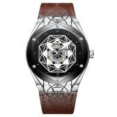 TEVISE T821 Männer Markenuhr automatische mechanische Uhr wasserdicht Lederband Legierung Fall verstärktes Glas leuchtende Armbanduhr