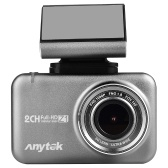 Anytek 1080P Car DVR Camera 2.35in IPS Touchscreen Dual Dash Cam WiFi WDR GPS 170 ° Videoregistratore grandangolare Monitor di parcheggio Monitor