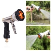 Water Spray Gun High Pressure Pistol Grip Water Gun 9 Adjustable Patterns for Hand Watering Garden Plants & Lawn, Car and Pet Washing