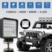 400W 6000K 4 LED Work Light Bar Flood Spot Beam Offroad Car Truck Daylight Refitting Lamp Cross-country For SUV Driving Fog Bulb