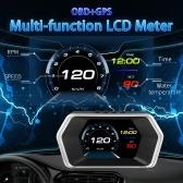 Auto-HUD-Display, Head-Up-Display Hochauflösender Tachometer Auto-Diagnosewerkzeug OBDⅡ Fehlercode-Beseitigung Sicherer Fahrcomputer-Überdrehzahl-Fehleralarm für alle Fahrzeuge