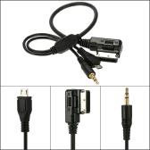KKmoon 3,5 mm Mini Jack Aux MP3 Kabel USB Adapter muzyczny Interfejs AMI MMI dla Audi A3 A4 A5 A6 TT dla VW Jetta GTI GLI Passat CC Touareg