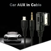 KKmoon 3.5mm Mini Jack Aux MP3 Cable USB Adapter Music AMI MMI Interface for Audi A3 A4 A5 A6 TT for VW Jetta GTI GLI Passat CC Touareg