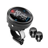 Steelmate EBAT ET-910AE 2-sensor inalámbrico TPMS LCD motocicleta presión de los neumáticos del sistema de monitor