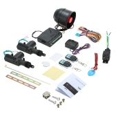 NEW CAR ALARM + 2 DOOR REMOTE CENTRAL LOCKING KIT