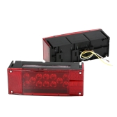 1 Par LED Luzes traseiras Esquerda Direita Submersível Red Trailer Boat Stop Turn Tail Lights