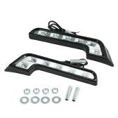 2 SZTUK Światła do jazdy dziennej Bright 6 LED L Typ Super White DRL 12V Lampa przeciwmgielna z przodu samochodu